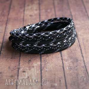 hand-made męska bransoletka: sailor:: black&white