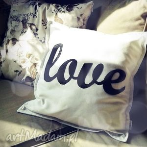 love, napis, litery, filc, bawełna