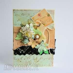 Kartka uniwersalna retro, urodziny, pozdrowienia, przyjaźń, romantyczna, retro