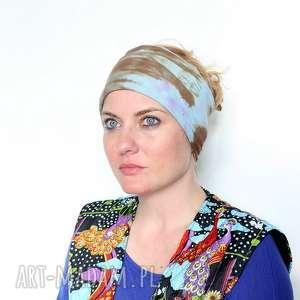 Opaska damska na włosy ręcznie farbowana opaski ruda klara