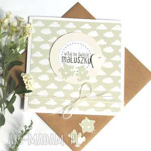 witaj na świecie maluszku :: kartka handmade, narodziny