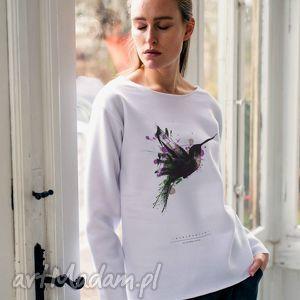 HUMINGBIRD PAINTED Bluza Oversize, oversize