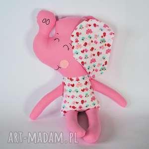 Słoń Farciarz - Wiki 48 cm, słoń, maskotka, dziewczynka, roczek, urodziny, dziecko