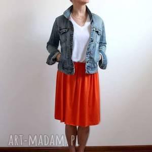 spódnice spódnica midi zwiewna, letnia, pomarańczowa, kolory, rozmiary