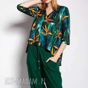 bluzki bluzka z dłuższym tyłem, blu147 bambus, bluzka, wyjściowa, dłuższy tył