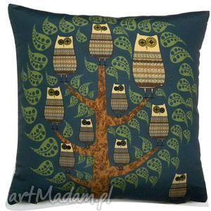 poduszki poduszka dekoracyjna z sowami, poduszka, sowa, sowy