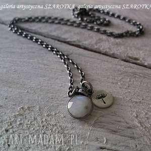 Make a wish minimalistyczny naszyjnik z kamienia księżycowego