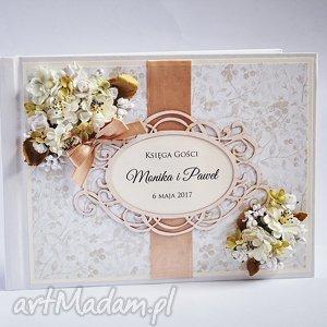 księga gości z kwiatami, księga, ślub, gości, wpisy, życzenia, wesele