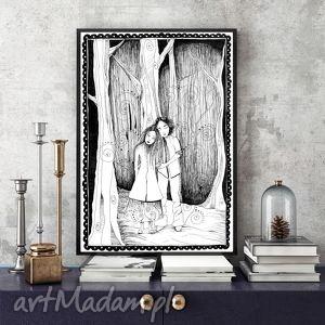 Miłosna Opowieść... a4, grafika, ilustracja, miłość, zakochani, a4