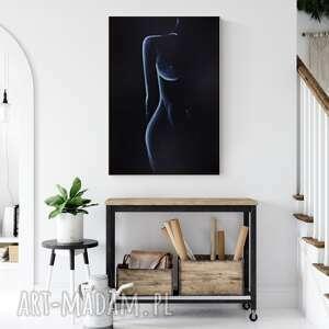 subtelny i zmysłowy akt kobiecy 70 x 100 cm, 2490002, minimalizm, grafiki
