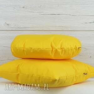 komplet poduszek dekoracyjnych 40x40cm żółte - 2 sztuki - poduszki, ozdoba
