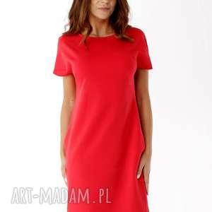 sukienki sukienka dresowa z zamkami czerwona