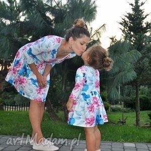 handmade ubranka sukienki dla mamy i córki koliber