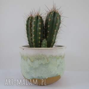 ceramika ceramiczna osłonka na roślinkę, sukulent, doniczka