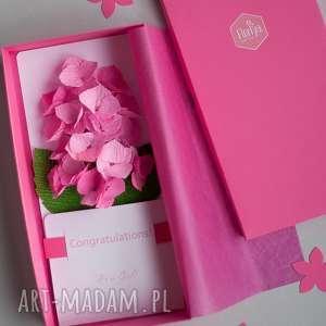 kartki karteczki 3d, gratulacje, różowe, prezent, niemowląt, papier, kartki