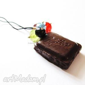 ręcznie robione breloki zawieszka do telefonu czekolada
