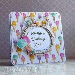 Słodkie słówka scrapbooking kartki cynamonowe życzenia-ślubne,