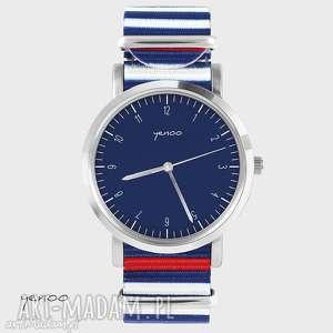 Prezent Zegarek, bransoletka - Simple elegance, granatowy paski, nato, zegarek