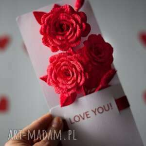 karteczki 3d love you - love, you, karteczki, 3d, papier, prezent
