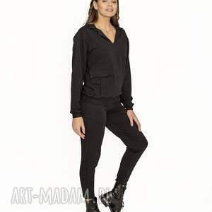 dres klasyka czarny, dres, bluza, sportowy, komplet, spodnie sportowe