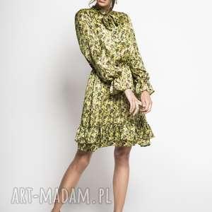 sukienki yoko - jedwabna sukienka seledynowa
