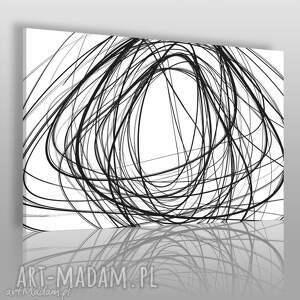 Obraz na płótnie - ABSTRAKCJA CZARNO-BIAŁY 120x80 cm (12101), abstrakcja