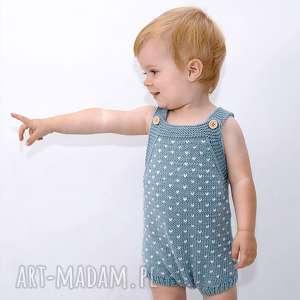 rampers w kropki merynos dziecięcy, śpiochy, spodnie, dziecięce, wygodne, rozpinane