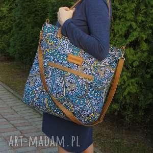 shopper wzory, duża torba, torba we pojemna na lato, modna