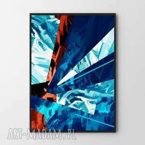 plakat obraz elements 50x70 cm b2, abstrakcja, obraz, plakat, grafika