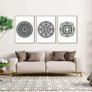 zestaw 3 prac a1, mandala, mandale, dom, sztuka, plakaty, dekoracja