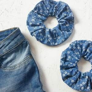 ozdoby do włosów scrunchie frotka gumka z materiału, scrunchie