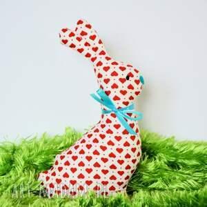 Zajączek wielanocny - Tuptuś 20cm, zajączek, miłość, serce, wielkanoc, maskotka