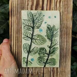 obrazek ceramiczny mięta, obrazek, dzień matki, zioła, obraz