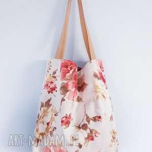 torebka w kwiaty vintage xxl, torebka, torba, worek, pakowana,