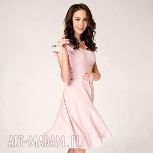 Sukienka Rozkloszowana Felicia Różowa Roz. 34;36;38;40, rozkloszowana