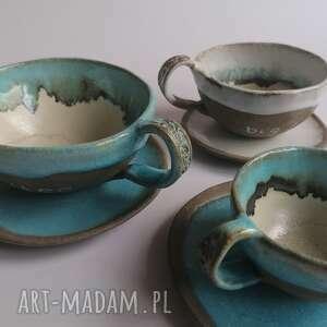 komplet nie tylko dla kawoszy, ceramika rękodzieło, pomysł na prezent