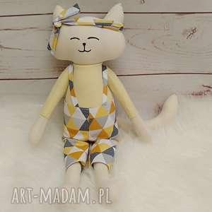 handmade maskotki kociak tilda przytulanka