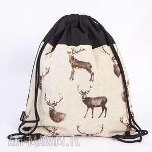 oryginalny prezent, gawka jelenie, worek, plecak, jeleń, rogacz, rogi