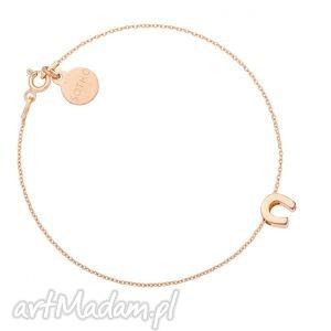 ręcznie wykonane bransoletka z różowego złota podkową