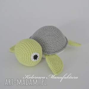 miś żółwik s - szaro seledynowy, miś, żółw, maskotka