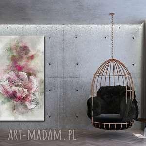 obraz xxl KWIATY 7 - 70x120cm na płótnie loft autorski wzór, kwiat, obraz, płótno