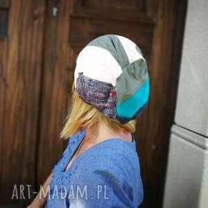 czapka damska patchworkowa boho orient, czapka, etno, boho, sport, damska, stylowa