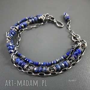 prezent na święta, bogata z lapis lazuli, lapis, srebro, bransoletka