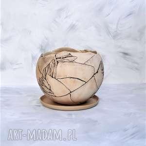 Donica kula ceramika tyka ceramika, donica, doniczka, kula
