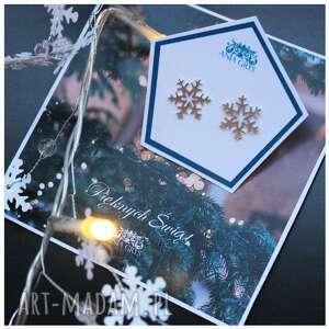 śnieżynki na sztyfcie, gwiazdki, śnieżynki, snowflakes, kolczyki, srebrne