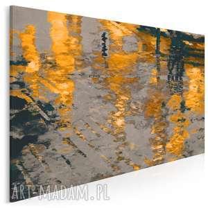 obraz na płótnie - abstrakcja odbicie 120x80 cm (06003)