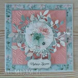 kwiatowa kartka na różne okazje, kwiaty, urodziny, życzenia, imieniny