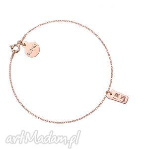 bransoletka z różowego złota shaker gym girl, bransoletka, siłownia, fitness
