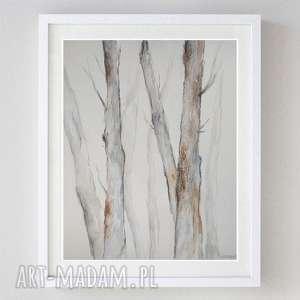 DRZEWA -akwarela formatu A4, akwarela, papier, drzewa