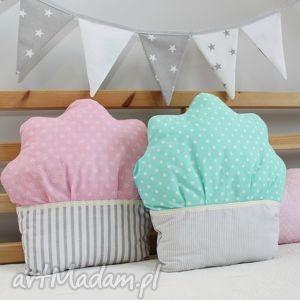 Podusia muffinka miętowa: pokoik dziecka zielonegroszki cupcake